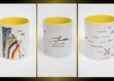 Zatie's Mug Kiss Jaune 14 €
