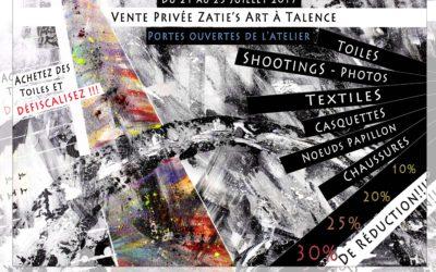 Vente privée Zatie's Art et portes ouvertes de mon atelier #3